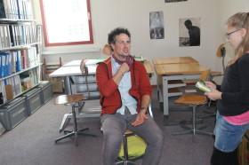 Schüler heute; Antonio D'Agostino mit  Muriel Hauri
