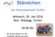 Sommernachts-Ständchen 29.6.16 - Rest. Waldegg Teufen